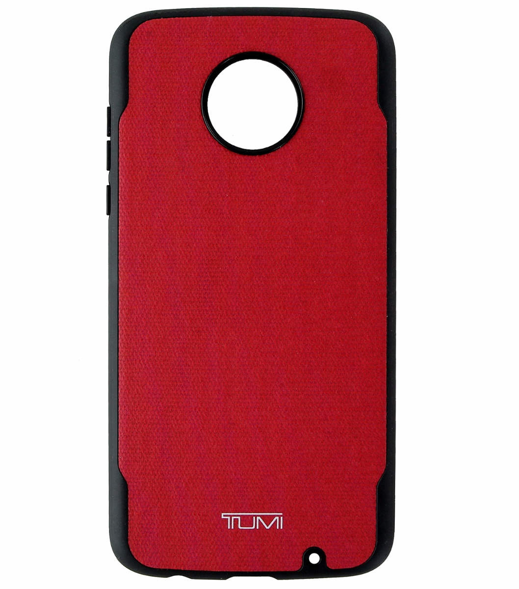 Tumi Coated Canvas Co-Mold Protective Case Cover for Motorola Moto Z2 Play Red