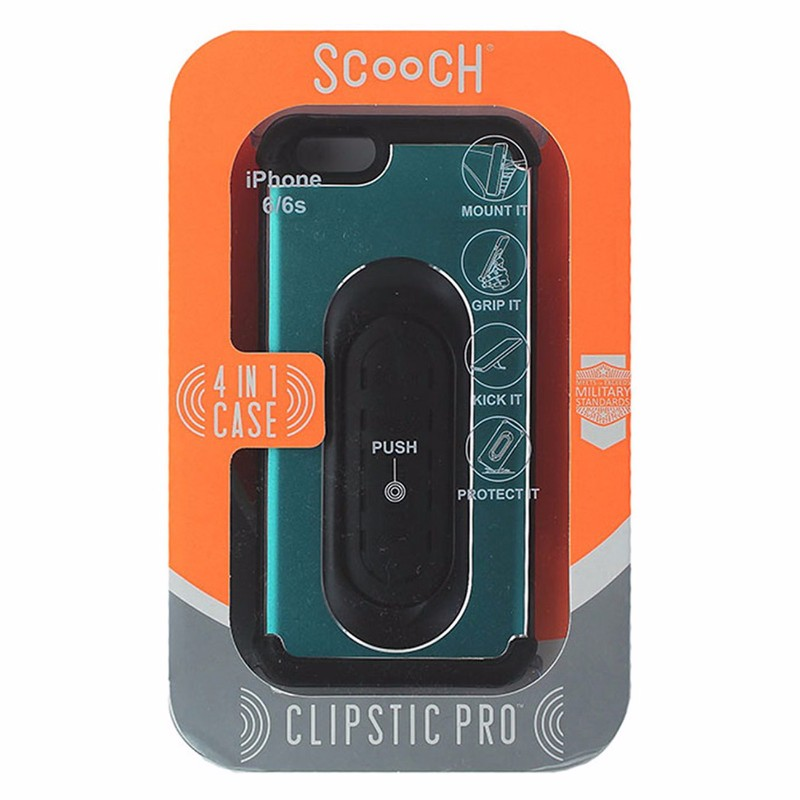 Scooch Clipstic Pro 4 in 1 Hardshell Case for iPhone 6 / 6s - Turquoise Blue