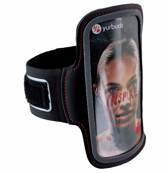 Yurbuds Universal Sport Armband for Smartphones - Black/Red