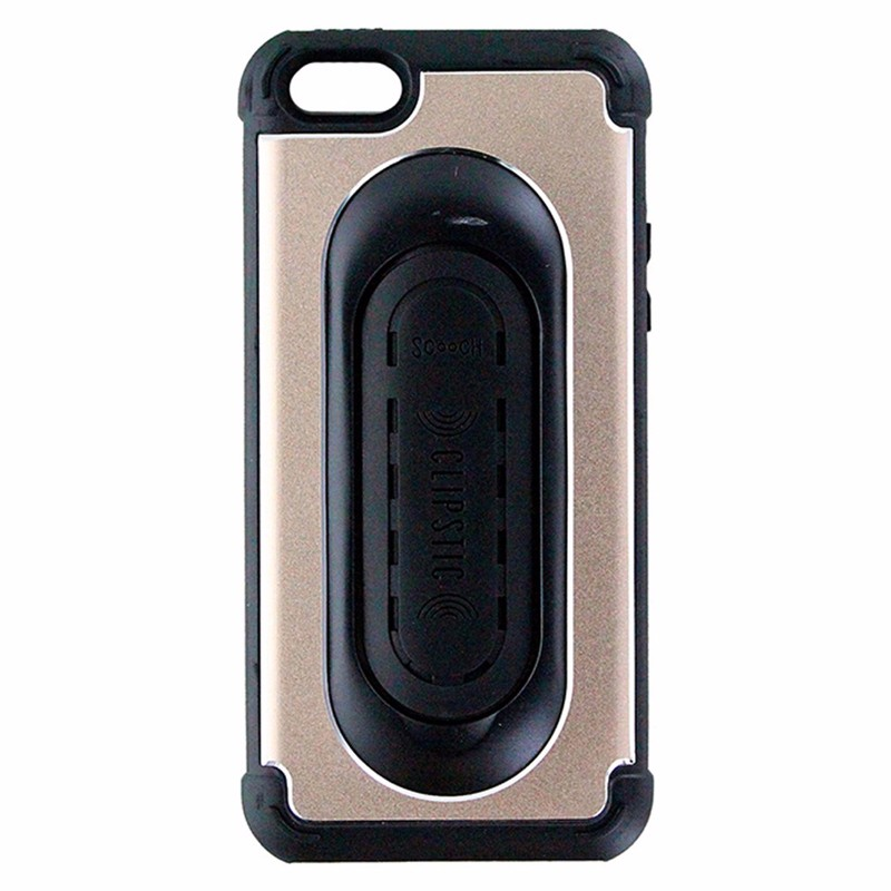 Scooch Clipstic Pro 4 in 1 Case for iPhone 5/5s/SE - Dull Gold / Black