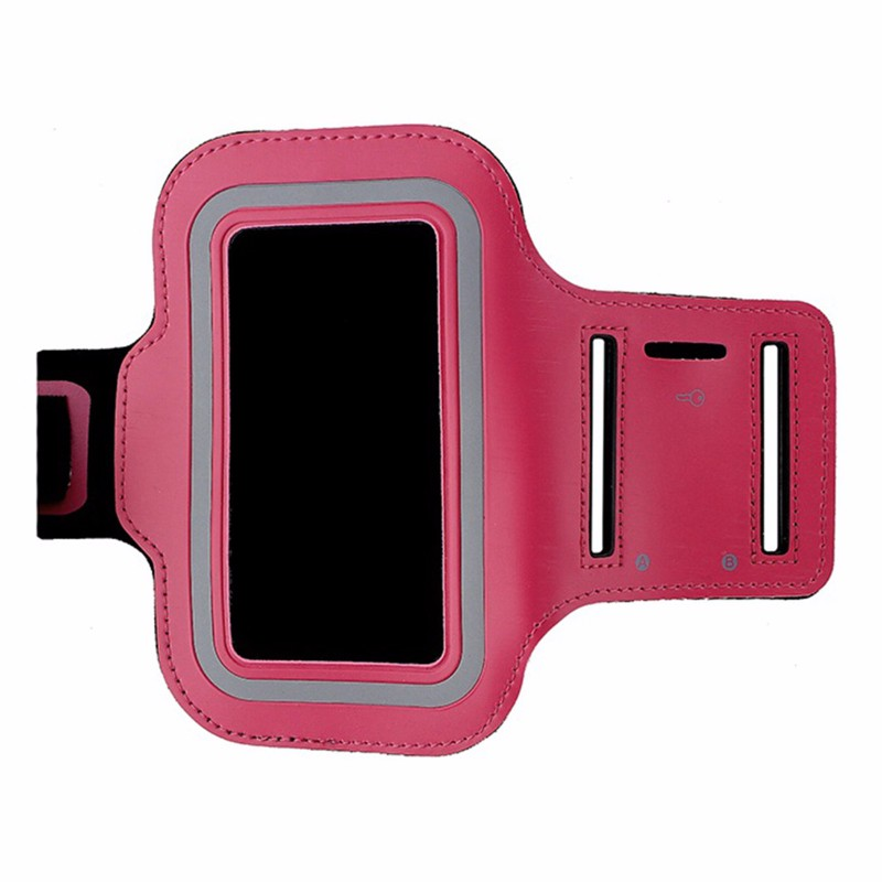 MyBat Workout Armband for HTC HD2 / Evo 4G / iPhones 4 and 5 - Pink / Black