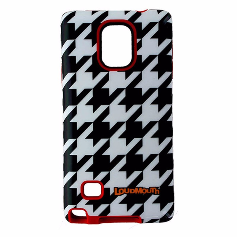 M-Edge LoudMouth Case Cover Samsung Galaxy Note 4 - Black/White/Red Houndstooth
