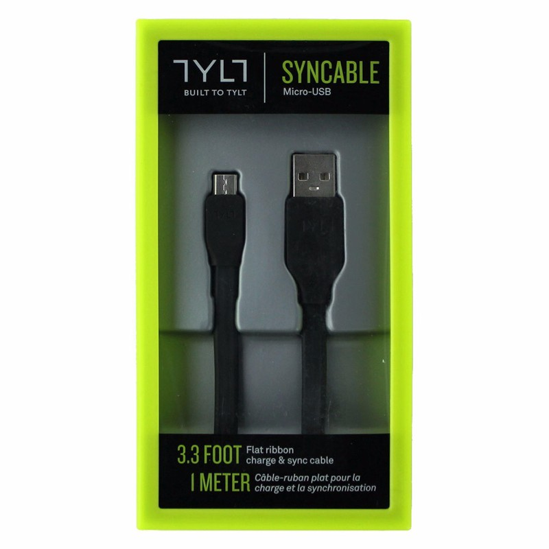 TYLT Syncable USB to Micro USB Sync and Charge Cable - Black - MIC-DATA1MBK-T