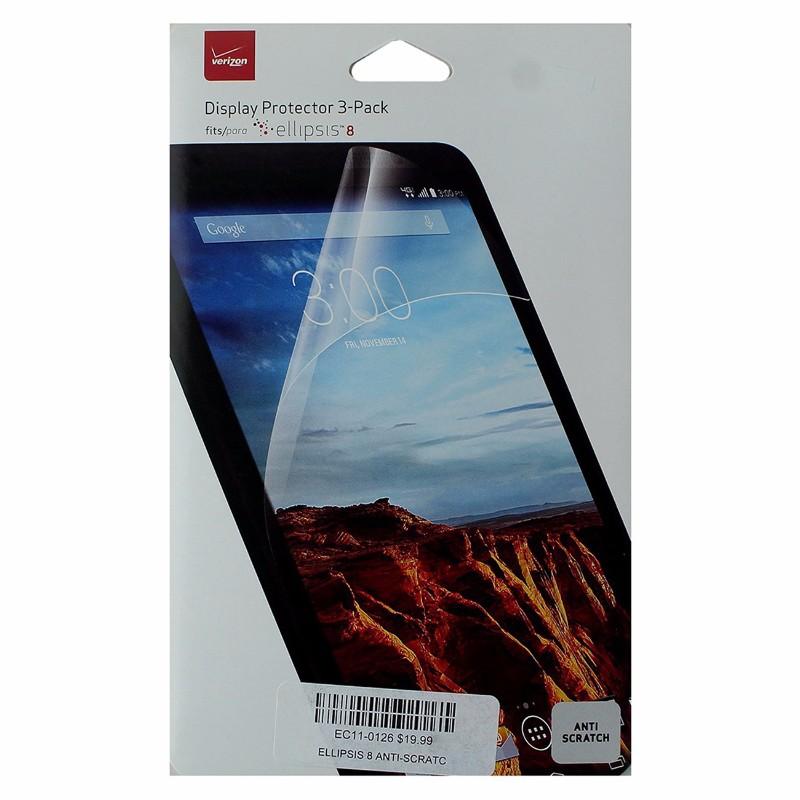 Verizon Accessories Display Protector 3 Pack for Verizon Ellipsis 8 - Clear