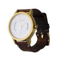 Garmin Vivomove Premium Activity Watch - Gold-Tone Steel / Brown Leather Band