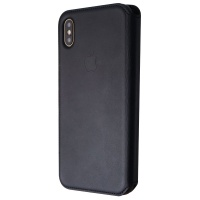 Apple Leather Folio Phone Case for iPhone Xs Max - Black (MRX22ZM/A)