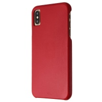 Case-Mate Barely There Genuine Leather Hard Case for Apple iPhone XS Max - Red