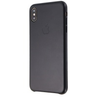 Official Apple Leather Case for Apple iPhone Xs Max - Black (MRWT2ZM/A)