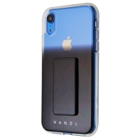 HANDL Phone Case with Supporting Stand / Grip for iPhone XR - Black Ombre
