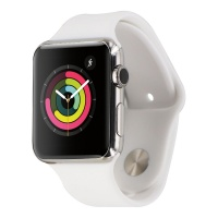 Apple Watch (1st Generation) 42mm (A1554) Stainless Steel / White Sport Band