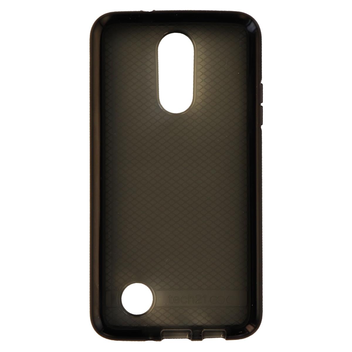 Tech21 Evo Check Series Flexible Gel Case for LG K8 (2017) - Black/Smoke