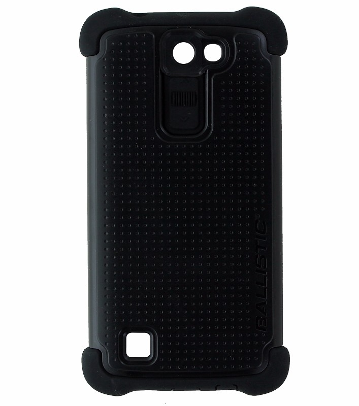 Ballistic Tough Jacket Maxx Dual Layer Case Cover and Holster for LG K8 - Black