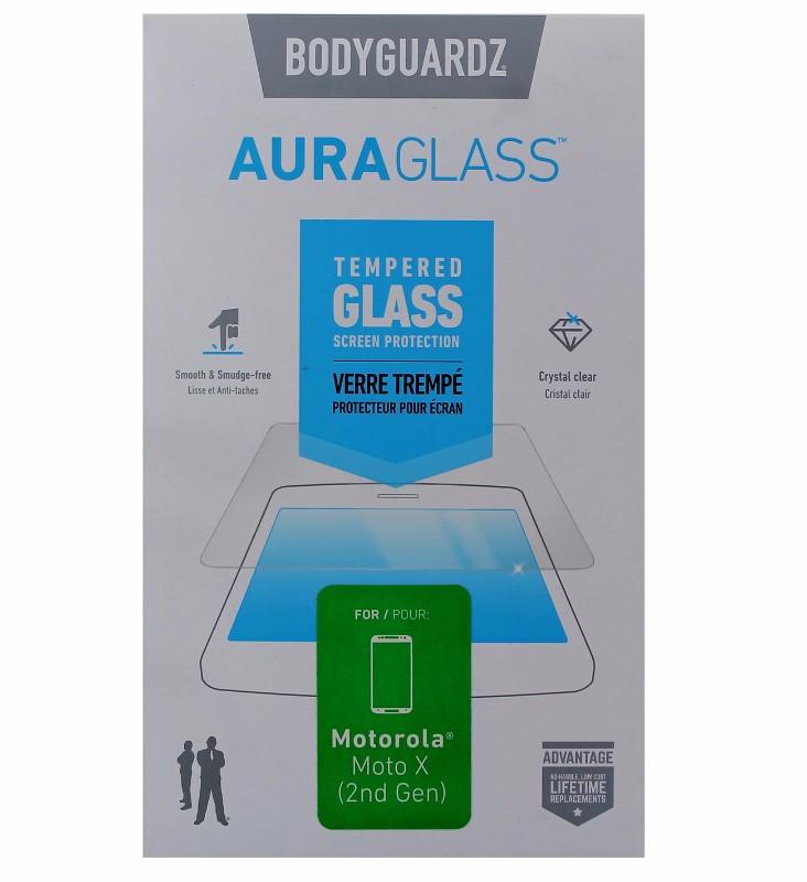 BodyGuardz AuraGlass Tempered Glass Screen Protector for Moto X 2nd Gen - Clear