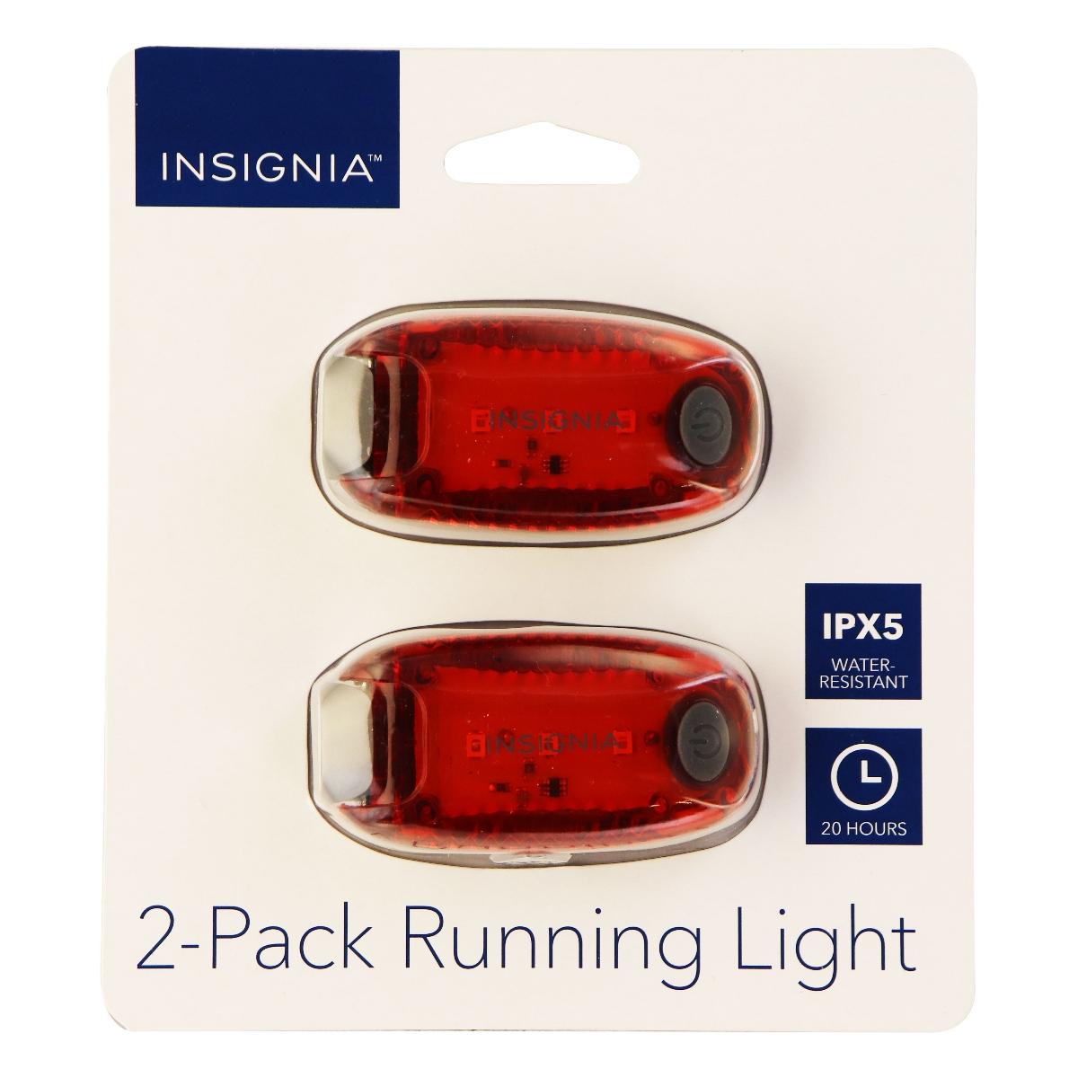 Insignia 2 Pack of LED Running Lights for Running/Walking/Biking - Red