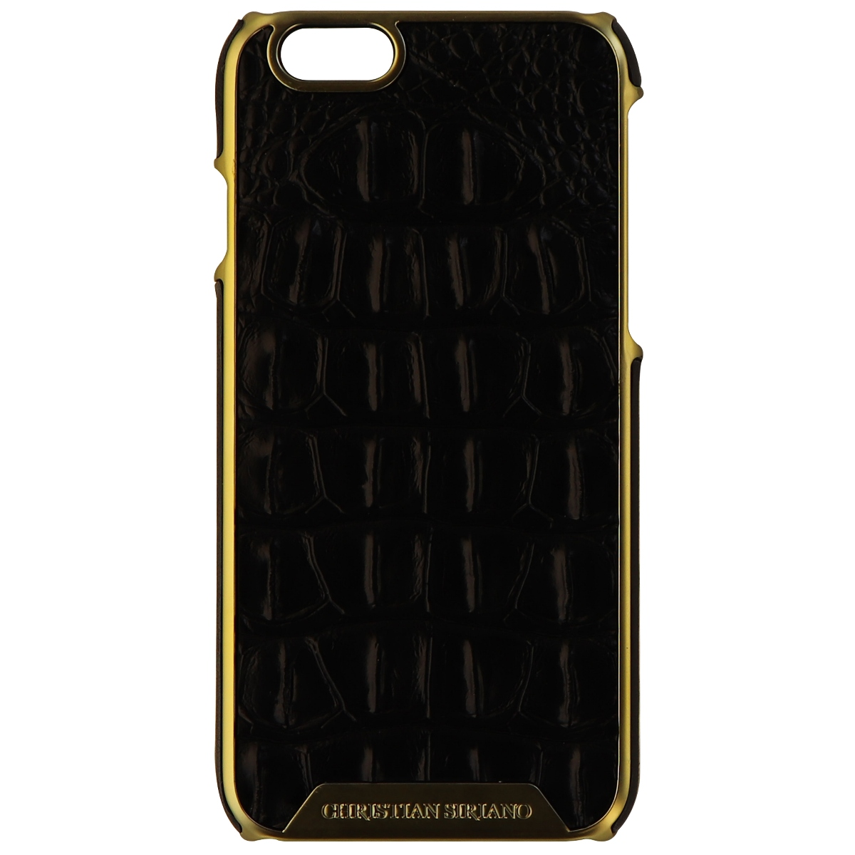 Christian Siriano Hardshell Wrapped Case for iPhone 6s 6 - Alligator/Black/Gold