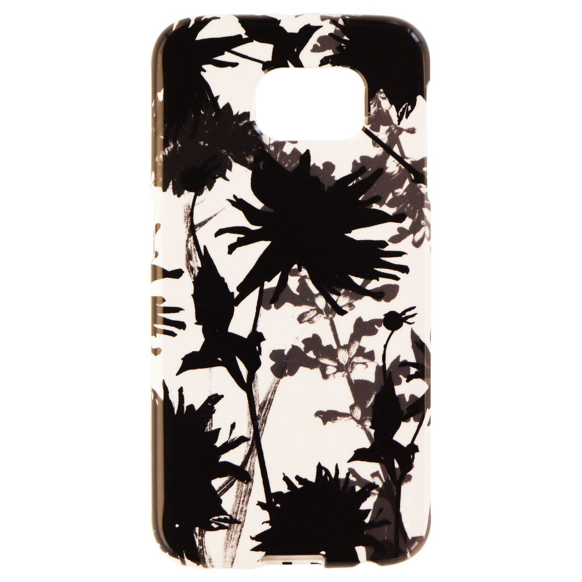 Insignia Soft Shell Protective Case Cover for Galaxy S6 - Floral Black / White