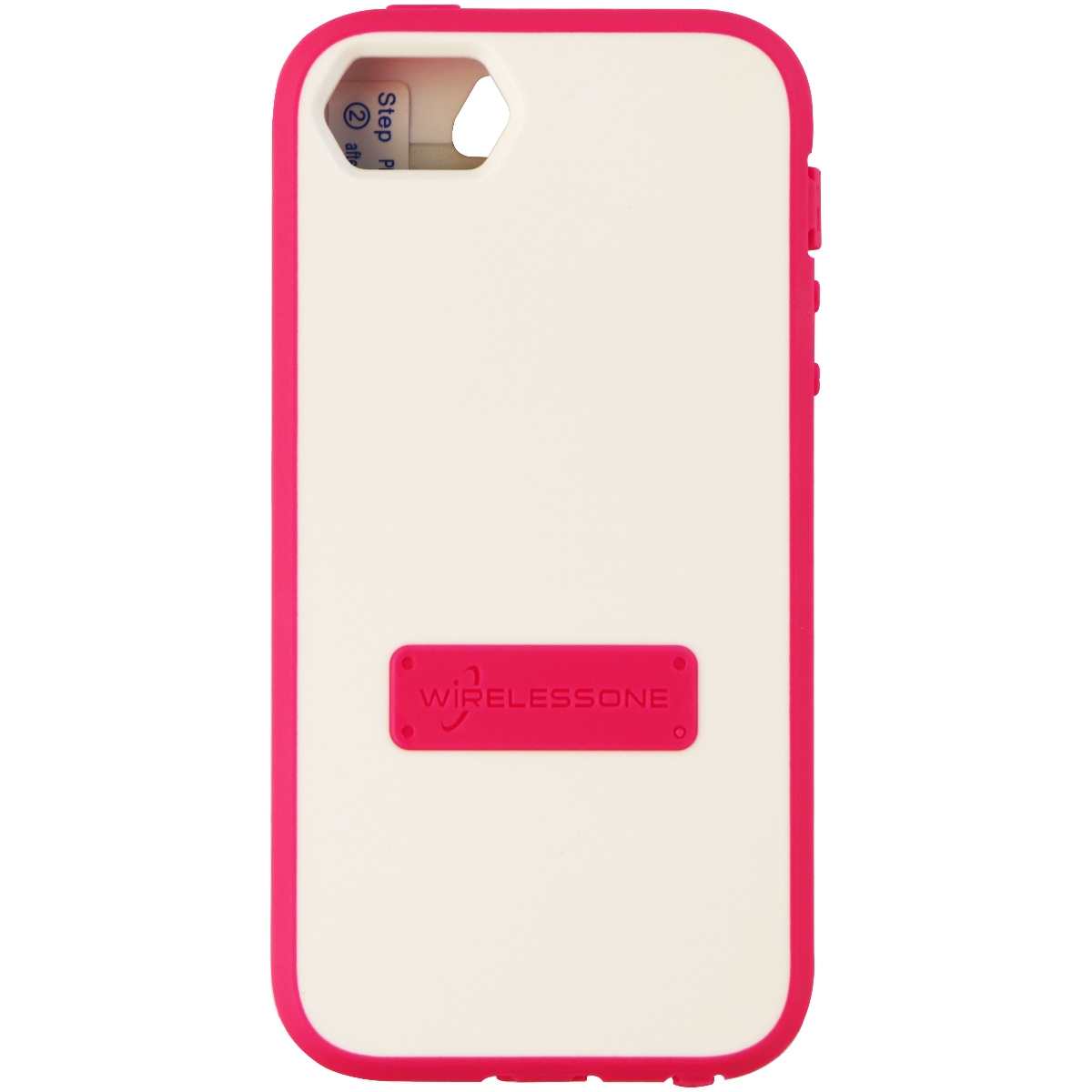 WirelessOne Contour Series Protective Case Cover for iPhone SE 5S 5 - Pink White
