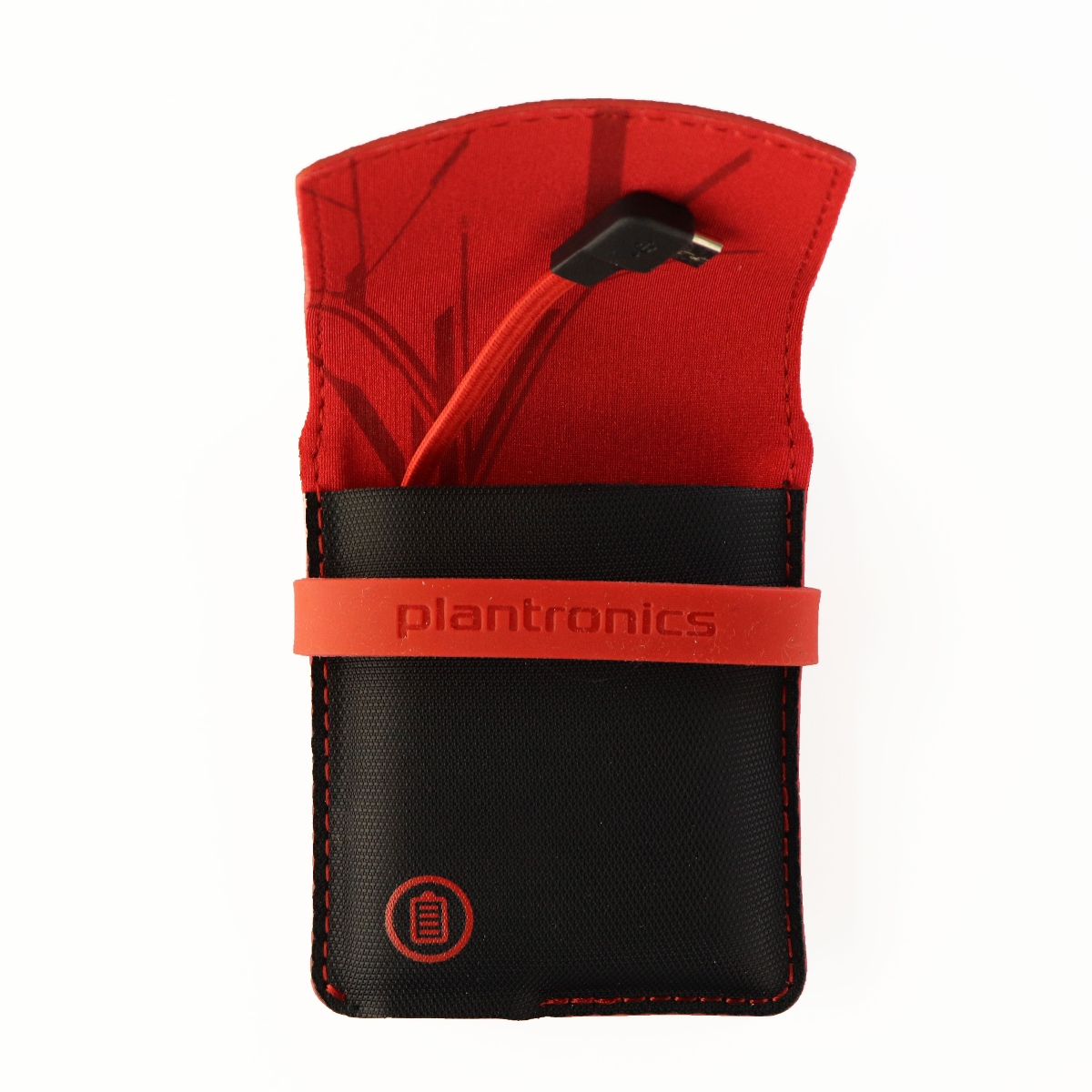 Plantronics Backbeat GO / GO 2 Charging Case Cover - Black / Red 200864-11
