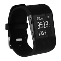 FitBit Surge Series Fitness Super Watch Band Activity Tracker - Large - Black