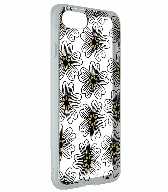 Sonix Clear Coat Hybrid Case Cover for Apple iPhone 8 7 - Clear / Flowers