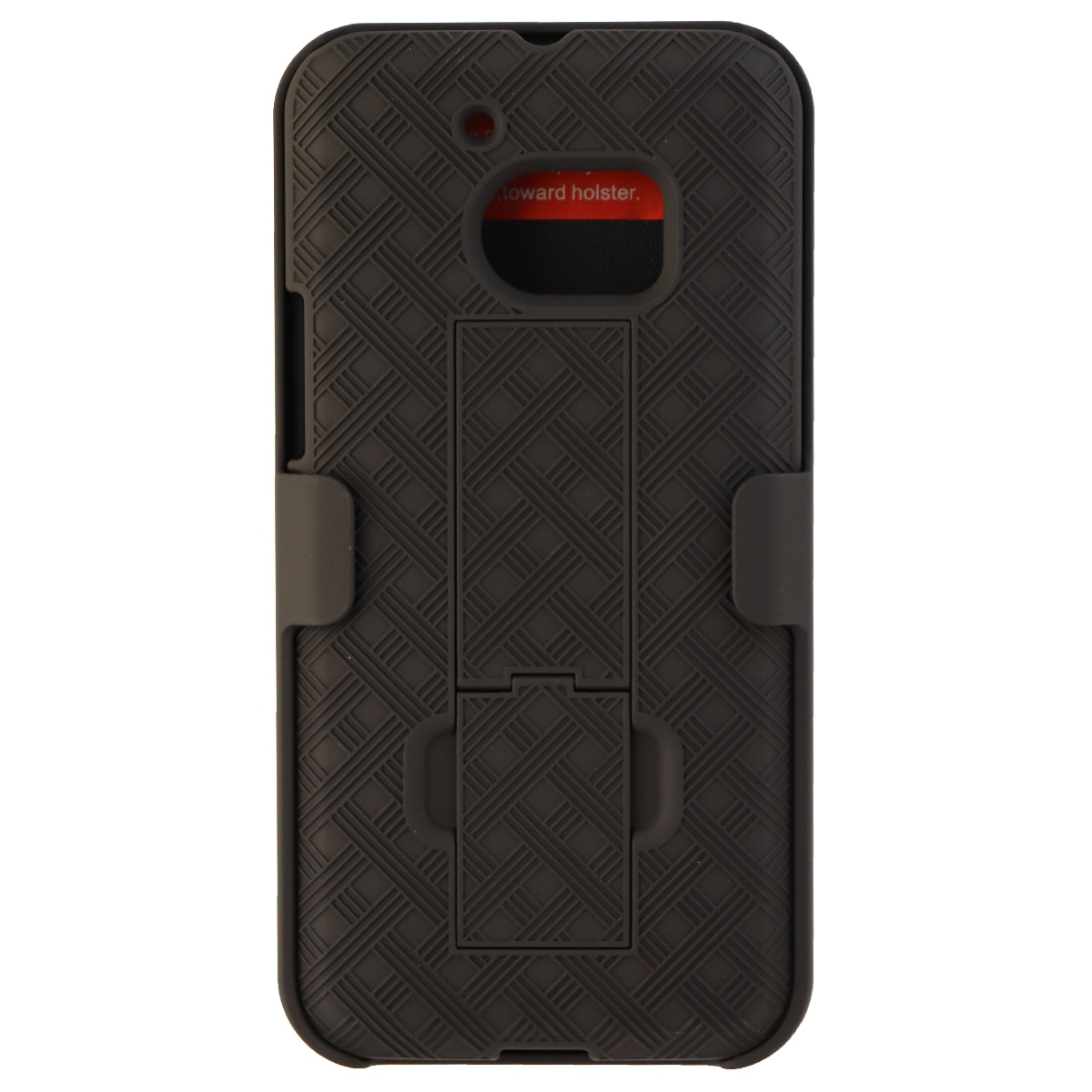 Verizon OEM Shell Holster Stand Combo Protective Case Cover for HTC 10 - Black