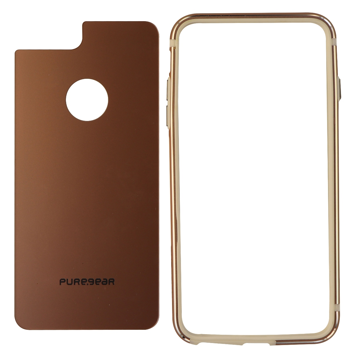 PureGear GlassBak 360 Metal Bumper and Glass for iPhone 7 Plus 6s Plus - Pink