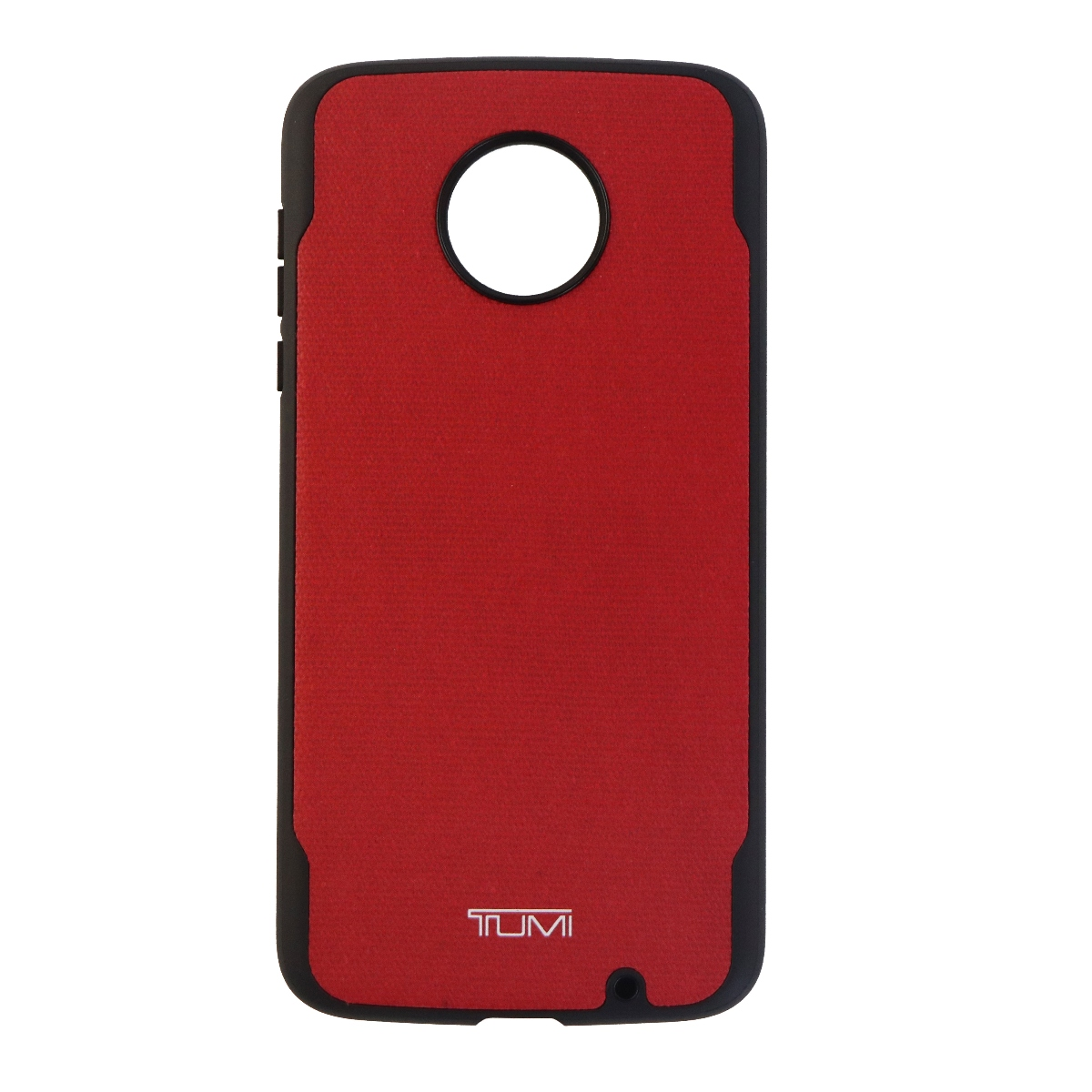 Tumi Canvas Co-Mold Series Case for Motorola Moto Z2 Force - Red Canvas/Black