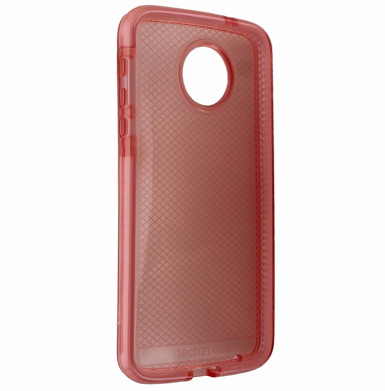 Tech21 Evo Check Slim Gel Case Cover for Moto Z Force Droid - Pink Rose