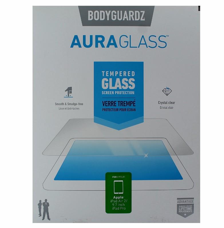 BodyGuardz AuraGlass Tempered Glass Screen Protector Apple iPad Air 2 - Clear