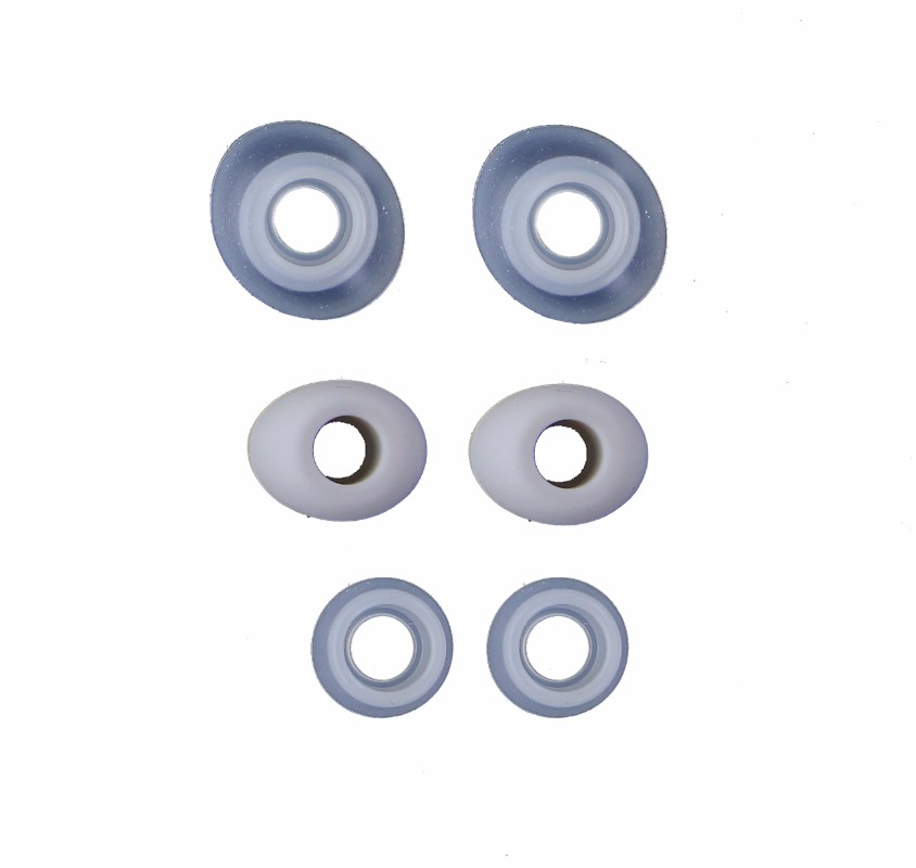 Replacement Ear Bud Gels for Samsung Headphones - Clear Pair and Gray Pair