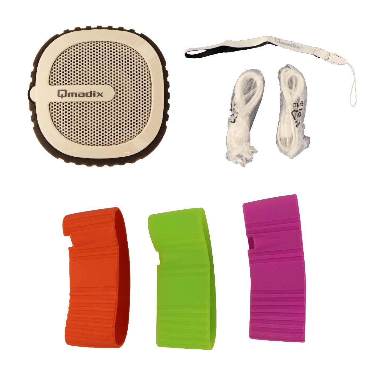 Qmadix Q-Pop Bluetooth Mini Wireless Speaker - White/Black/Purple/Green/Red