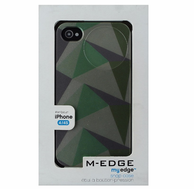 M-Edge My Edge Snap Case Protective Cover for iPhone 4S 4 - Shades of Green