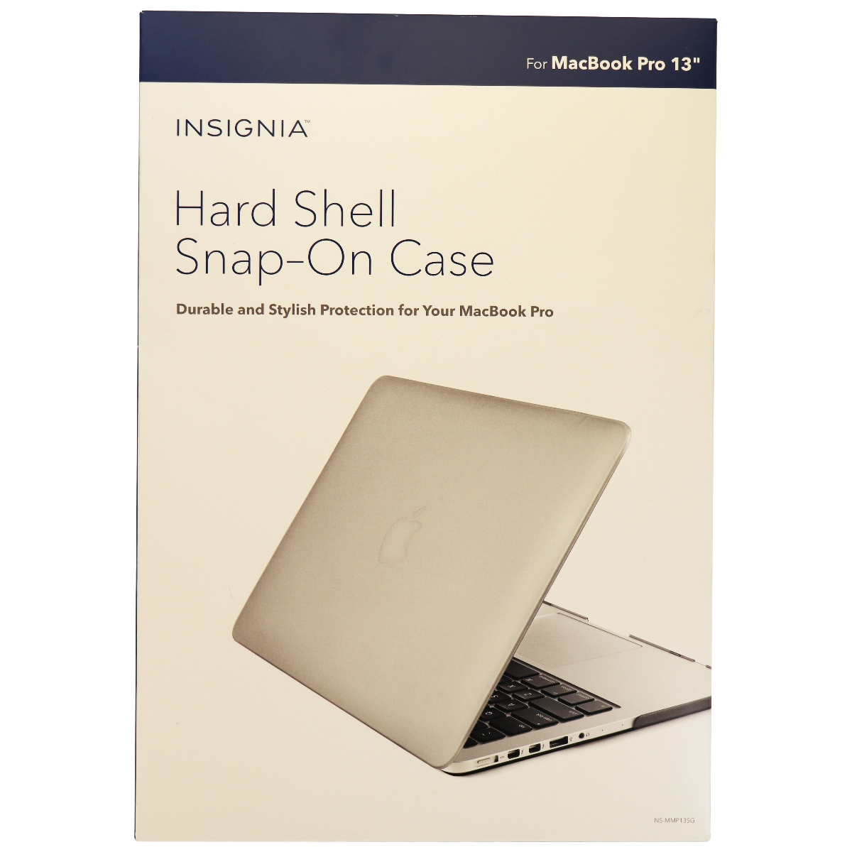 Insignia Hard Shell Snap-On Case for Apple MacBook Pro 13 inch - Gray