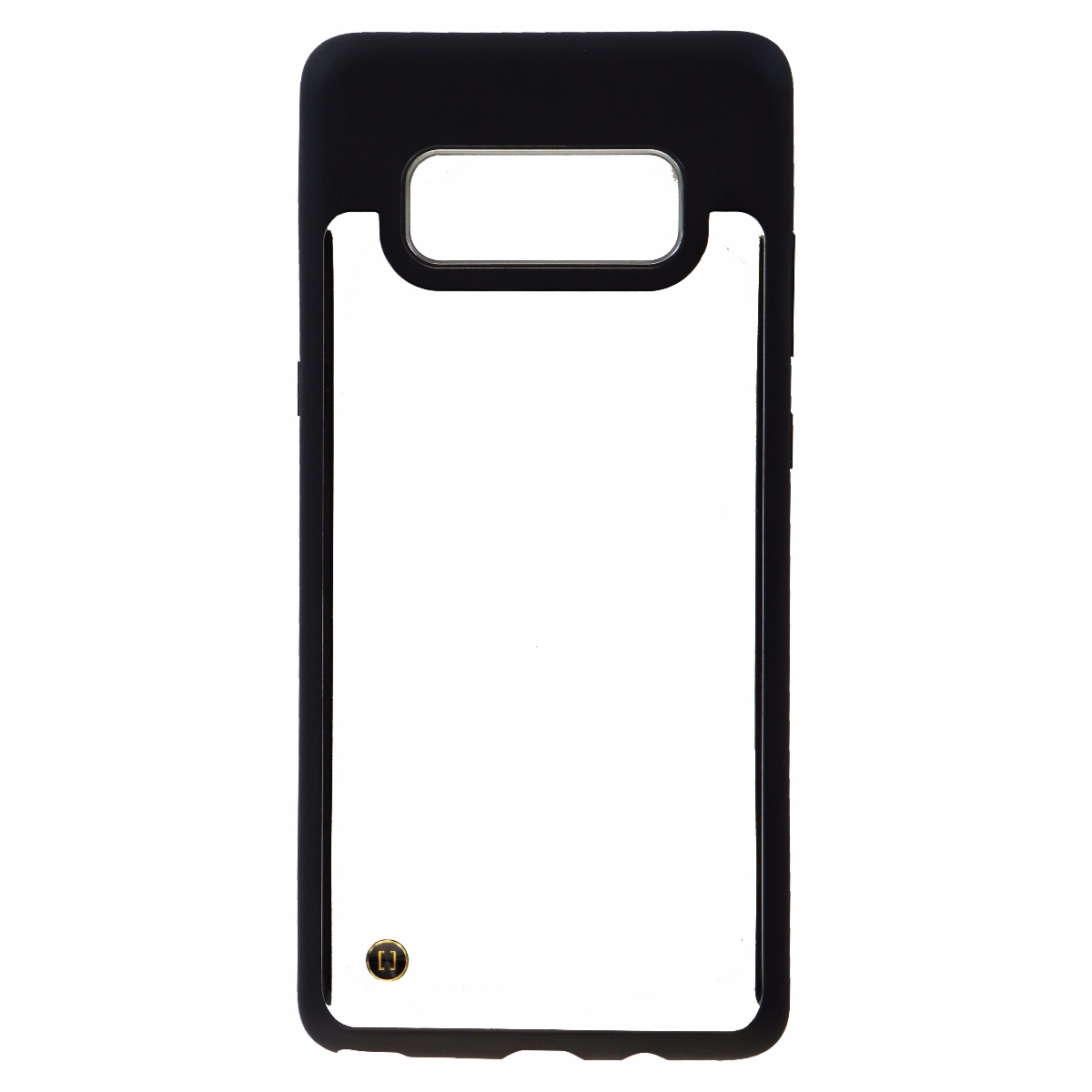 Granite Fitted Protective Case Cover for Galaxy Note 8 - Clear / Black