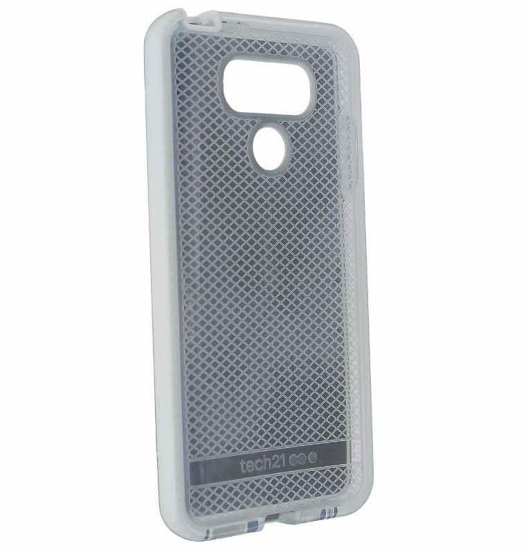 Tech21 Evo Check Series Flexible Protective Gel Case for LG G6 - Clear / White