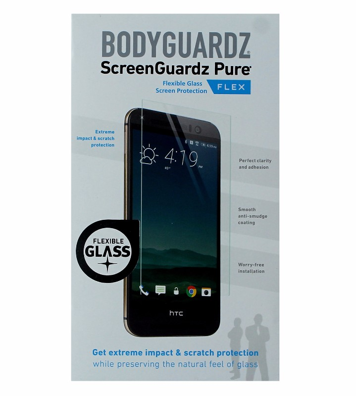 BodyGuardz Pure Flex Ultra-Thin Tempered Glass Screen Protector for HTC One M9