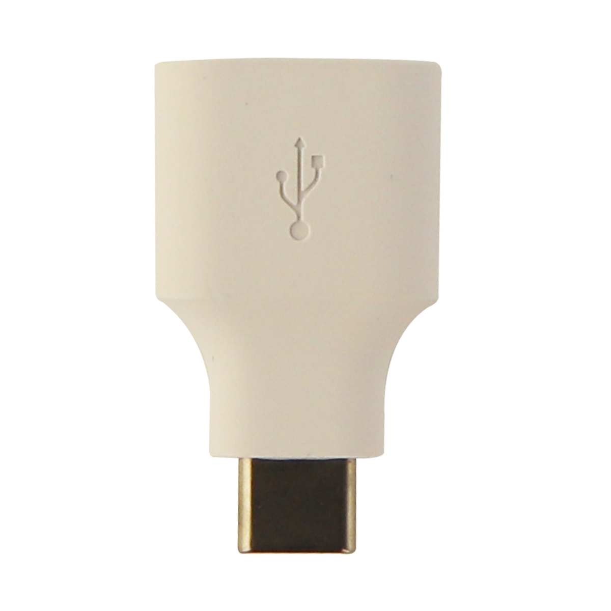 Universal USB to USB-C (Type C) Short Adapter for USB-C Devices S8 Pixel - White