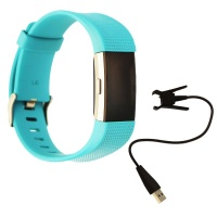 Fitbit Charge 2 Heart Rate + Fitness Wristband Watch (US Version) - Large - Teal