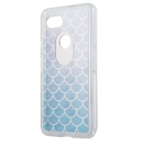 OtterBox Symmetry Series Hybrid Case for Google Pixel 2 XL  - Clear/ Blue Scales
