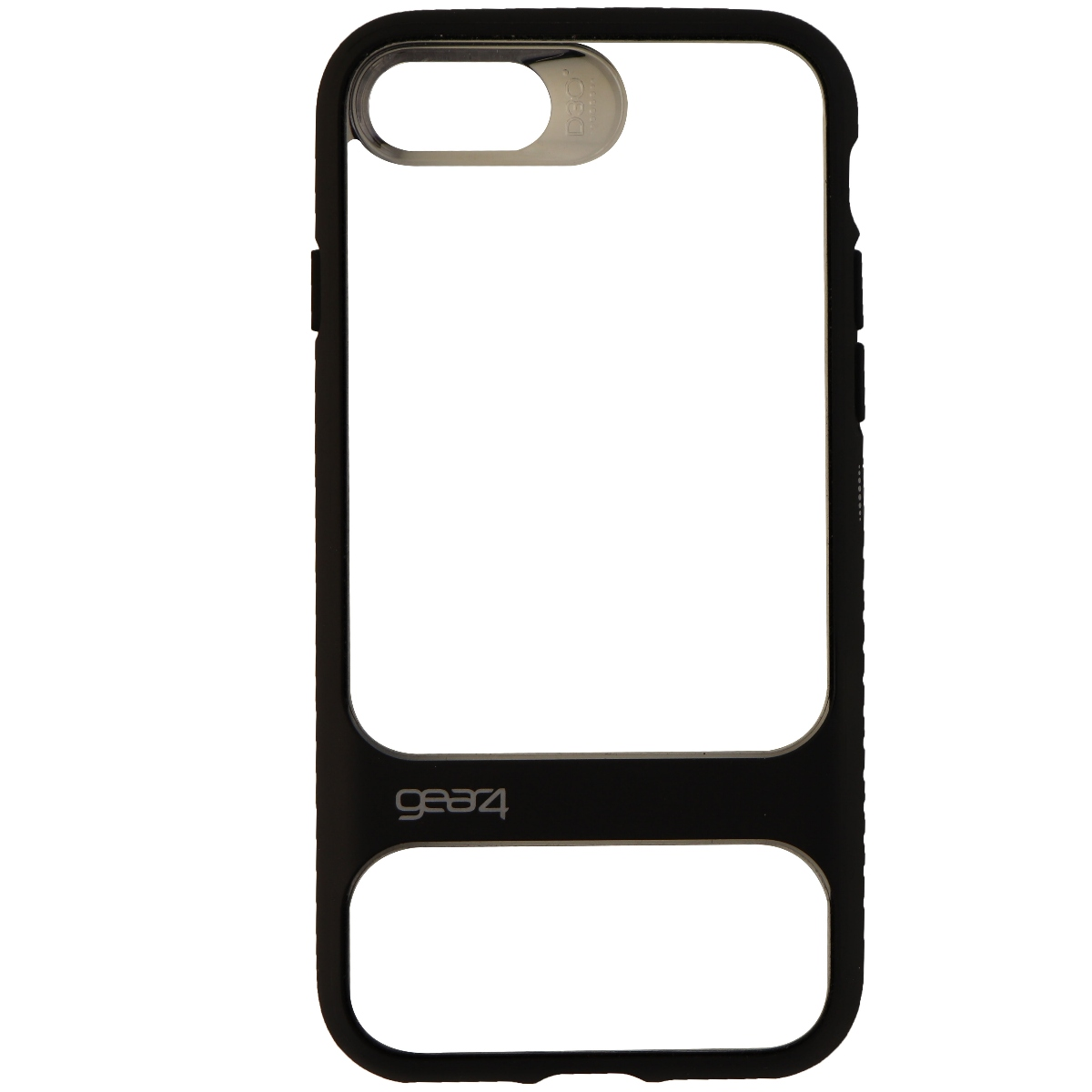 Gear4 Soho Series Protective Slim Case Cover for Apple iPhone 8 7 - Clear Black