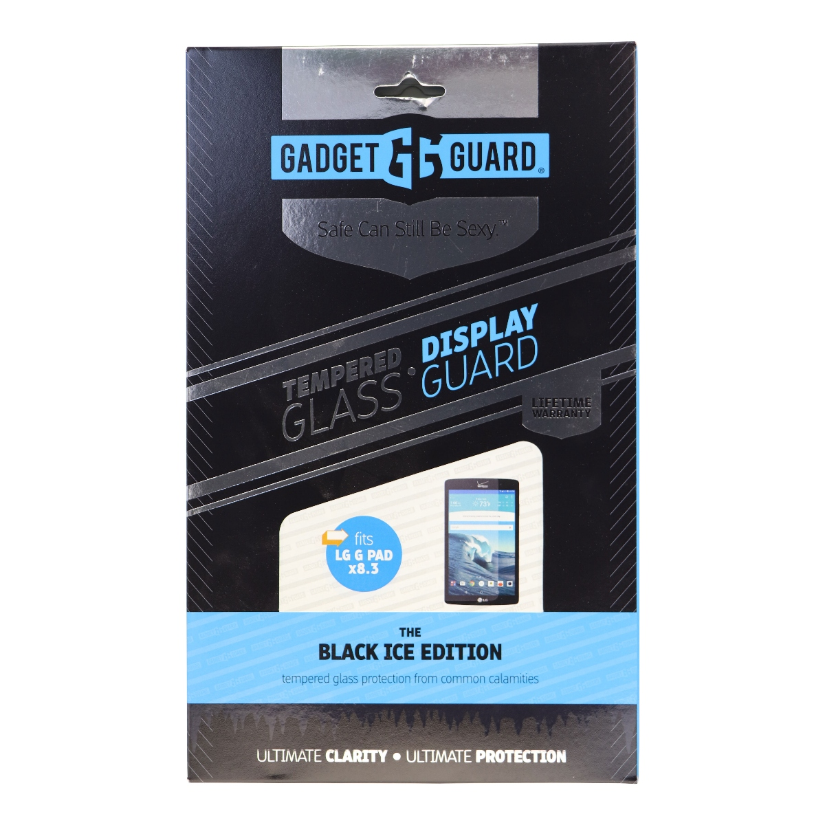 Gadget Guard Black Ice Tempered Glass Screen for LG G Pad X8.3 - Clear