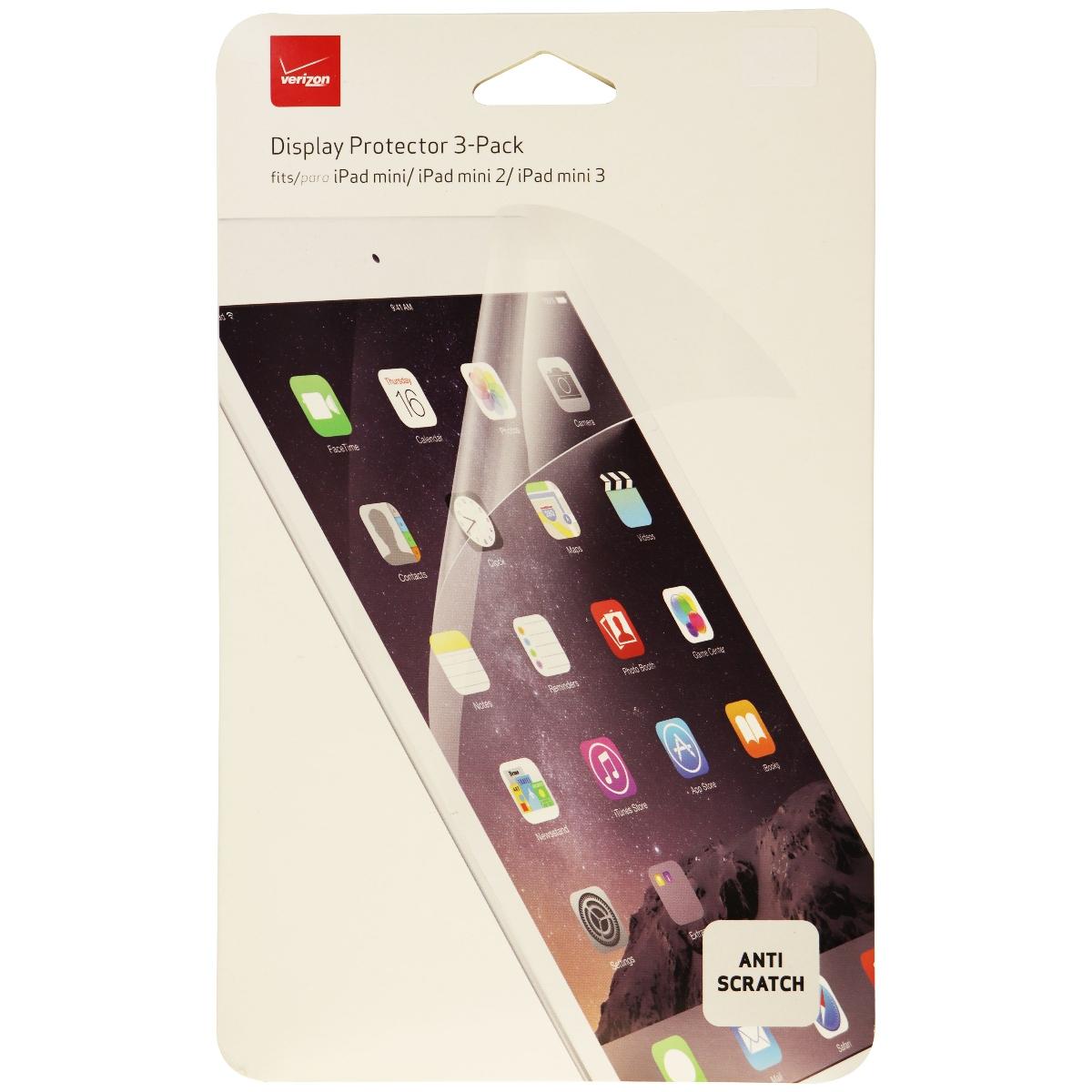 Verizon Anti-Scratch Display Screen Protector 3 Pack Apple iPad mini 2 3 - Clear