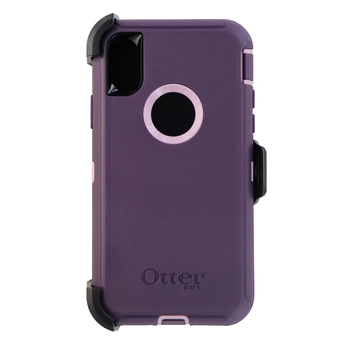 OtterBox Defender Series Case and Holster for Apple iPhone X 10 - Purple Nebula