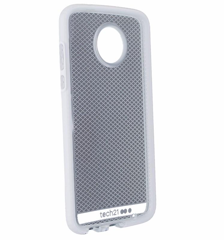 Tech21 Evo Check Protective Case Cover for Motorola Moto Z2 Play - Clear/White
