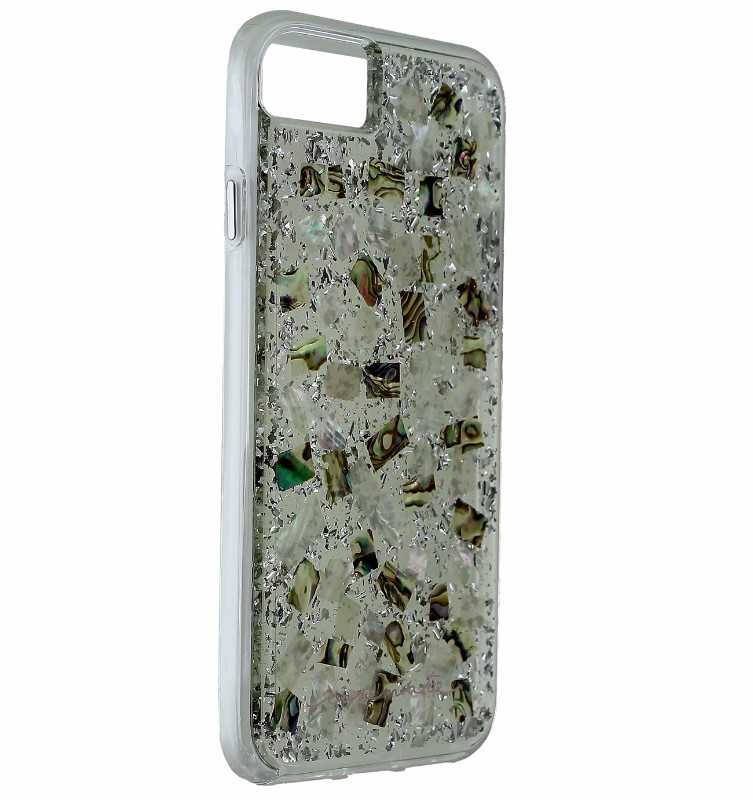 Case-Mate Karat Pearl Slim Case Cover Apple iPhone 7 - Clear / Silver Flake