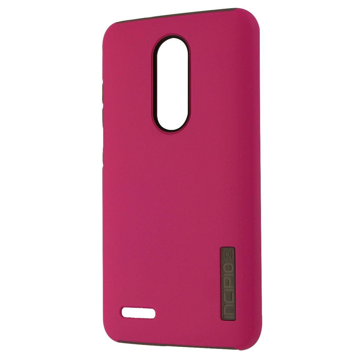 Incipio DualPro Series Dual Layer Case Cover for ZTE ZMAX Pro - Matte Pink/Gray