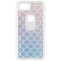 OtterBox Symmetry Series Hybrid Case for Google Pixel 2 - Clear/Blue Scales