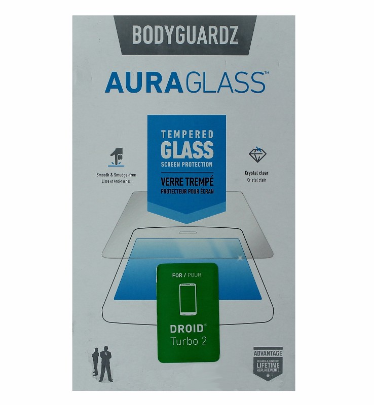 BodyGuardz AuraGlass Tempered Glass Screen Protector for Droid Turbo 2 - Clear