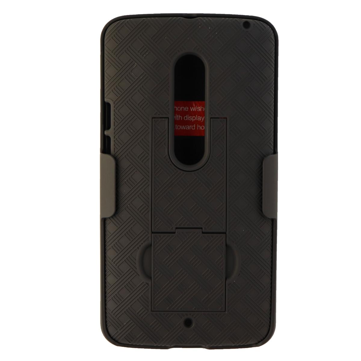 Verizon Hardshell Case and Belt Holster Combo for Motorola Droid Maxx 2 - Black