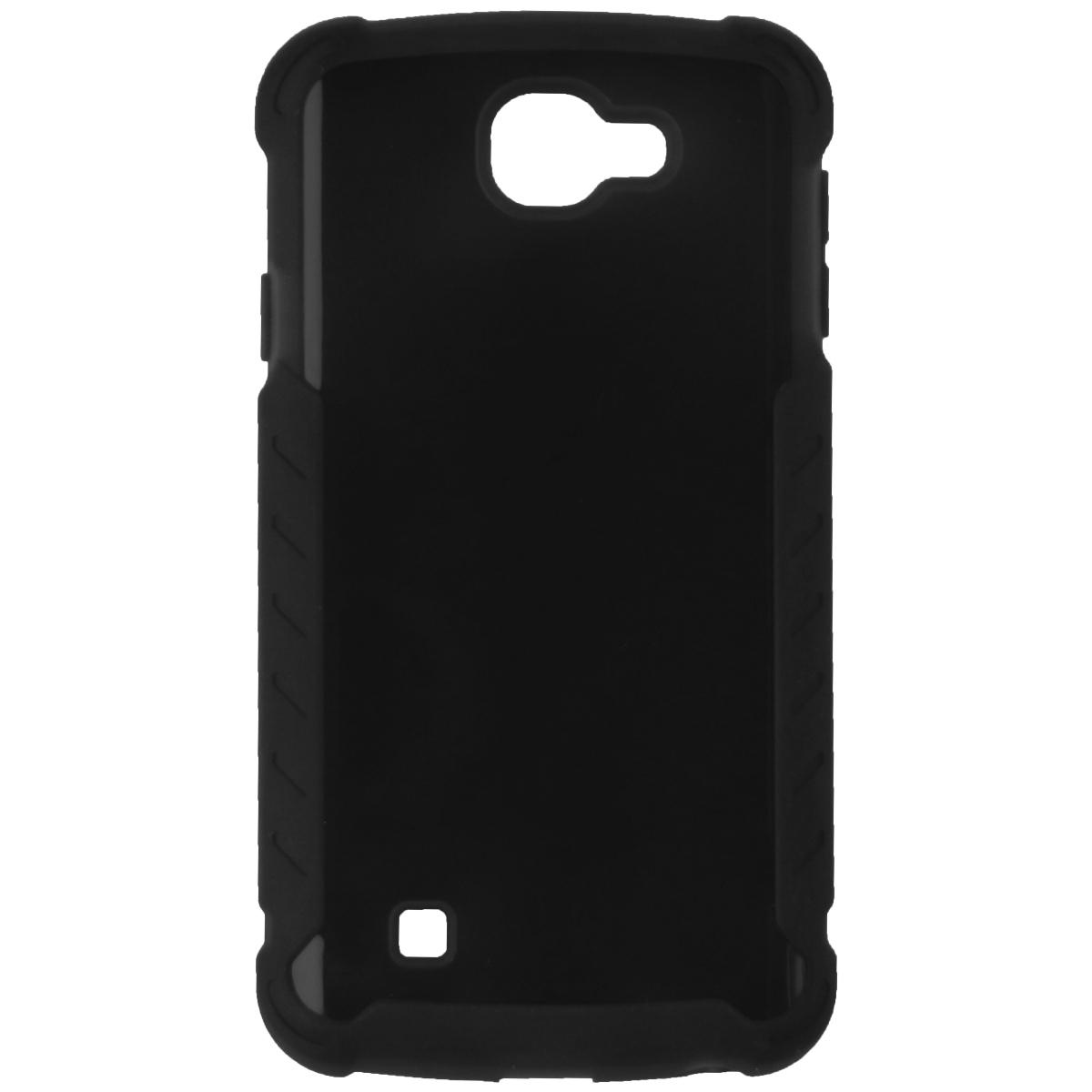 Verizon Silicon Cover Protective Case for LG K4 - Matte Black
